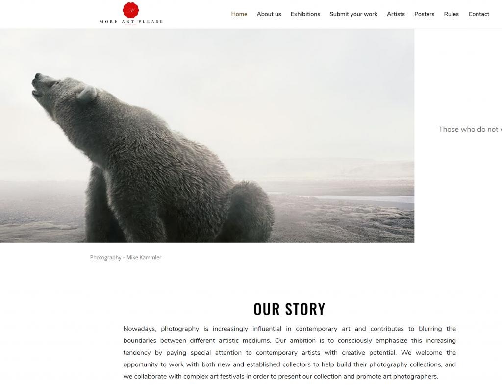 redesign website More Art Please