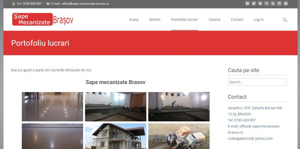 website de prezentare brasov